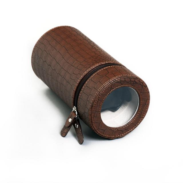 PRIME TIME盛时定制单头摇表器 自动机械上链盒圆筒转表器(棕色皮革)