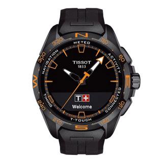 天梭 Tissot 高科技触屏系列 T121.420.47.05.104 石英|光动能 男款
