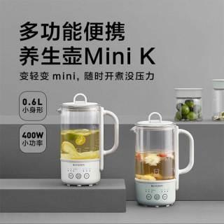 北鼎mini养生壶 办公室多功能小型煮茶器迷你便携烧水壶花茶壶K31F(本白色)
