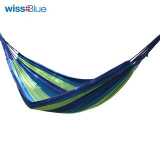 Wissblue维仕蓝加宽加厚户外吊床 野营休闲秋千室内宿舍吊床WA8053(蓝色)