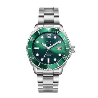 尼维达 NIVADA 智达系列 N936172421056  瑞士品牌腕表 300M潜水夜光綠水鬼 自动机械钢带手表 机械 男款