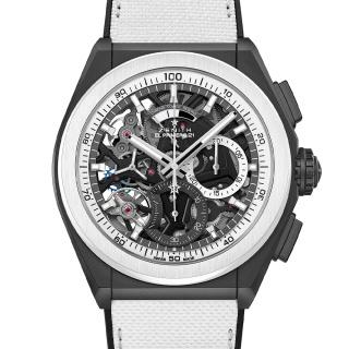 真力时 Zenith DEFY系列 El Primero 21 黑白特别版腕表 49.9007.9004/11.R923 机械 男款