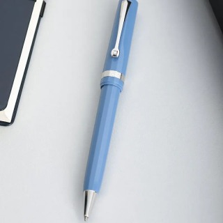 (三色可选)OMAS意大利进口旋入式糖果色圆珠笔蓝色