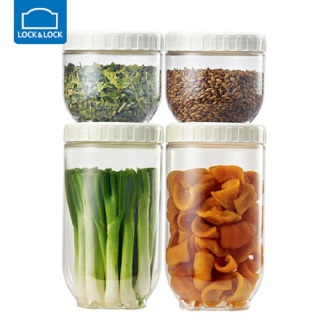 Lock&Lock韩国乐扣新概念塑料密封罐子 家用冰箱收纳四件套装