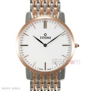 梅花 Titoni SLENDERLINE 纤薄系列 TQ52918SRG-583 石英 男款