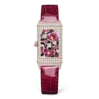 积家 Jaeger-LeCoultre REVERSO 翻转系列珍稀花卉腕表 粉色海芋 Q3292430 机械-价格仅供参考