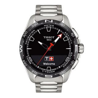天梭 Tissot 高科技触屏系列 T121.420.44.05.100 石英|光动能 男款