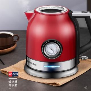 Macaiiroos迈卡罗家用电热水壶 复古造型自动断电304不锈钢烧水壶
