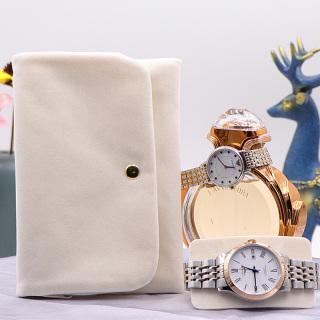 横款手表袋女款女士手表收纳袋便携手表包装袋绒布手表保护收纳袋
