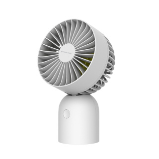 PRIME TIME盛时定制usb充电办公室桌面小电扇 台式宿舍桌面小风扇(白色)