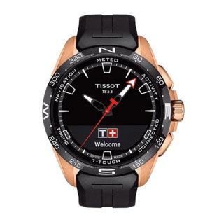 天梭 Tissot 高科技触屏系列 T121.420.47.05.102 石英|光动能 男款