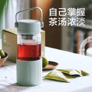 Buydeem北鼎茶水分离泡茶杯 玻璃杯水杯男女家用便携过滤防烫随手杯(浅杉绿)